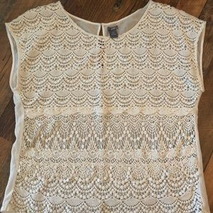 Aerie short sleeve lace shirt